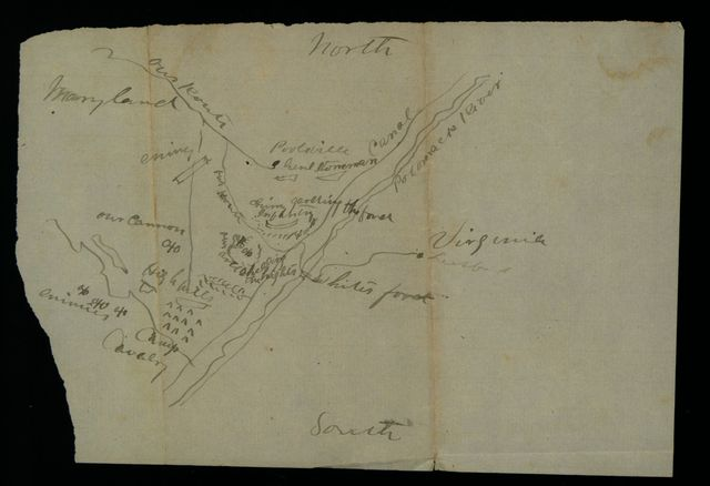 [Map of a cavalry engagement near Poolesville, Md., 1862].