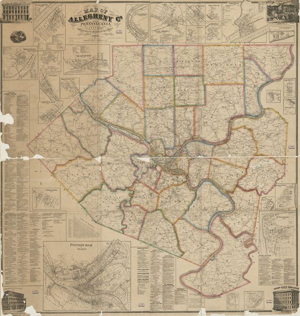 Map of Allegheny Co., Pennsylvania : from actual surveys /