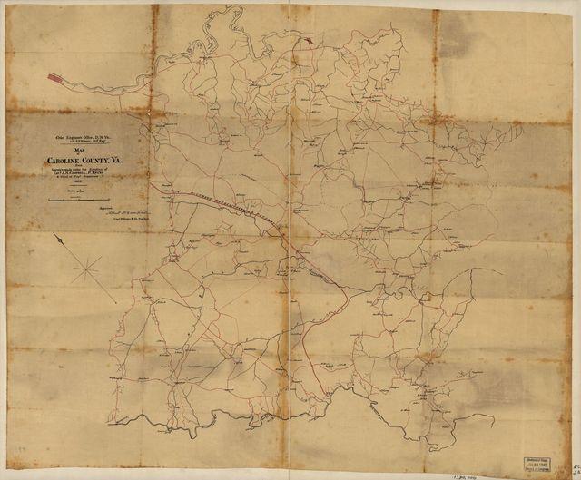 Map of Caroline County, Va. /