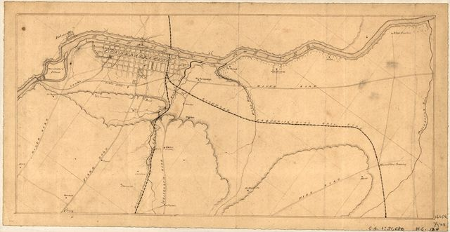 [Map of Fredericksburg, Va., and vicinity].
