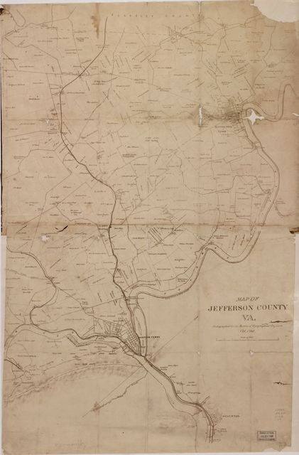 Map of Jefferson County, VA. /