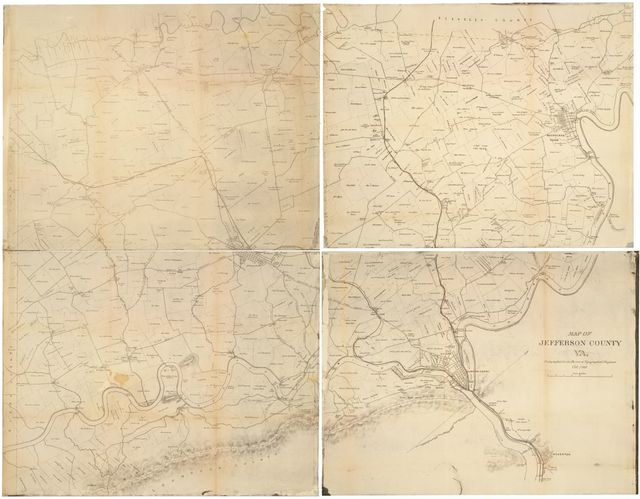 Map of Jefferson County, Va. photographed for the Bureau of Topographical Engineers Oct., 1862.