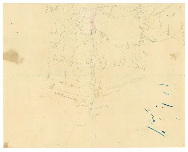 [Map of Mercer, Summers, Greenbrier and Monroe Counties, West Virginia /