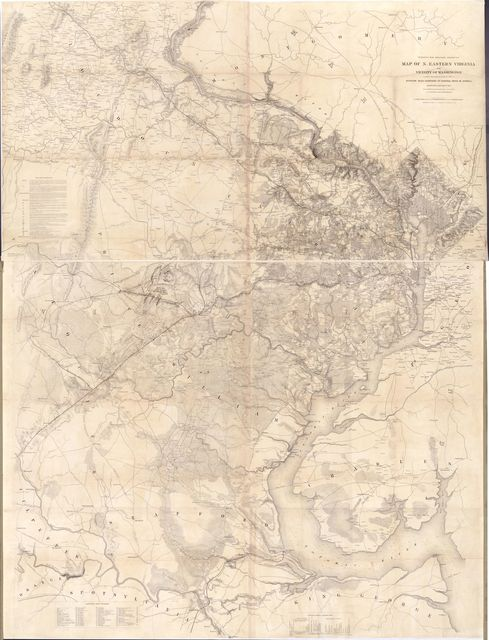 Map of n. eastern Virginia and vicinity of Washington /