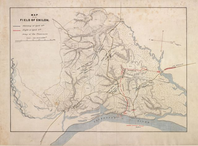 Map of the field of Shiloh. April 6 [1862].