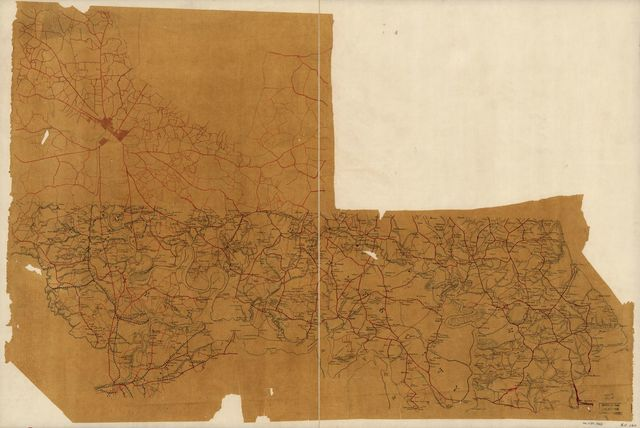 [Map of the James River Valley from the vicinity of Richmond to Chesapeake Bay : including parts of Henrico, Chesterfield, Charles City, and James City counties, Va.].