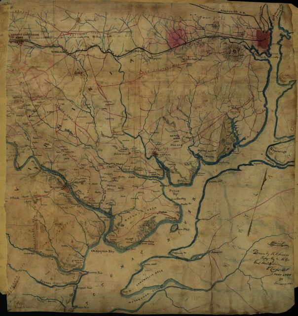 Map of the Potomac River, Va. : from Alexandria to below the Occoquan.
