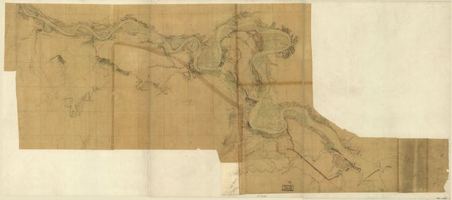 [Map of the Rappahannock River below Fredericksburg, showing Port Royal, Moss Neck, Corbin's Neck, etc.].
