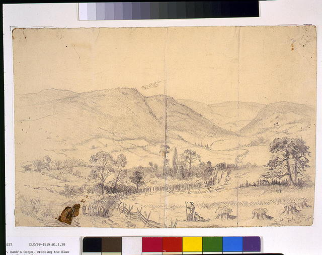 March of Gen. N.P. Bank's Corps, crossing the Blue Ridge Mountains through Chester Gap