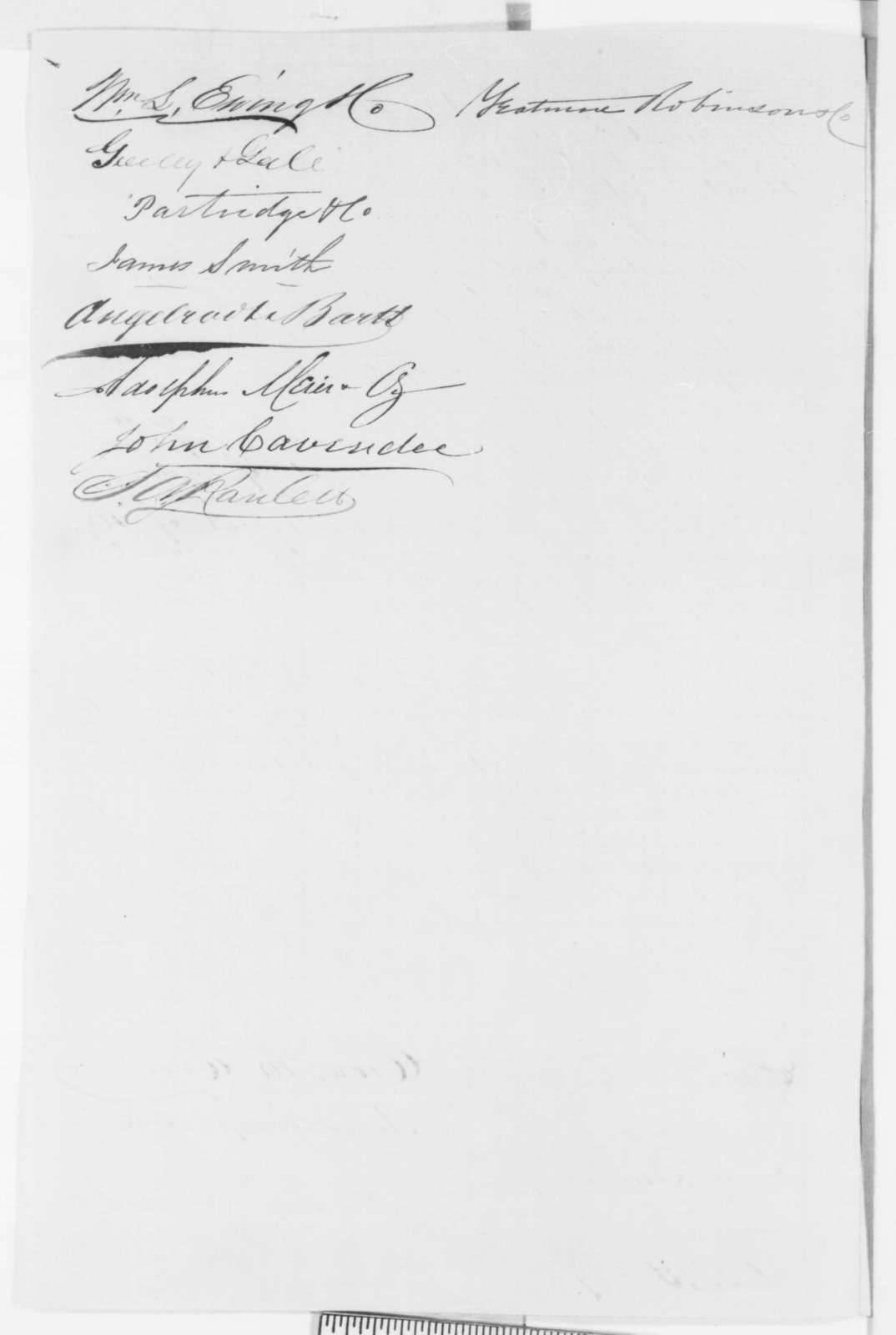 Missouri Merchants to Abraham Lincoln, Friday, February 07, 1862  (Petition recommending David Davis)