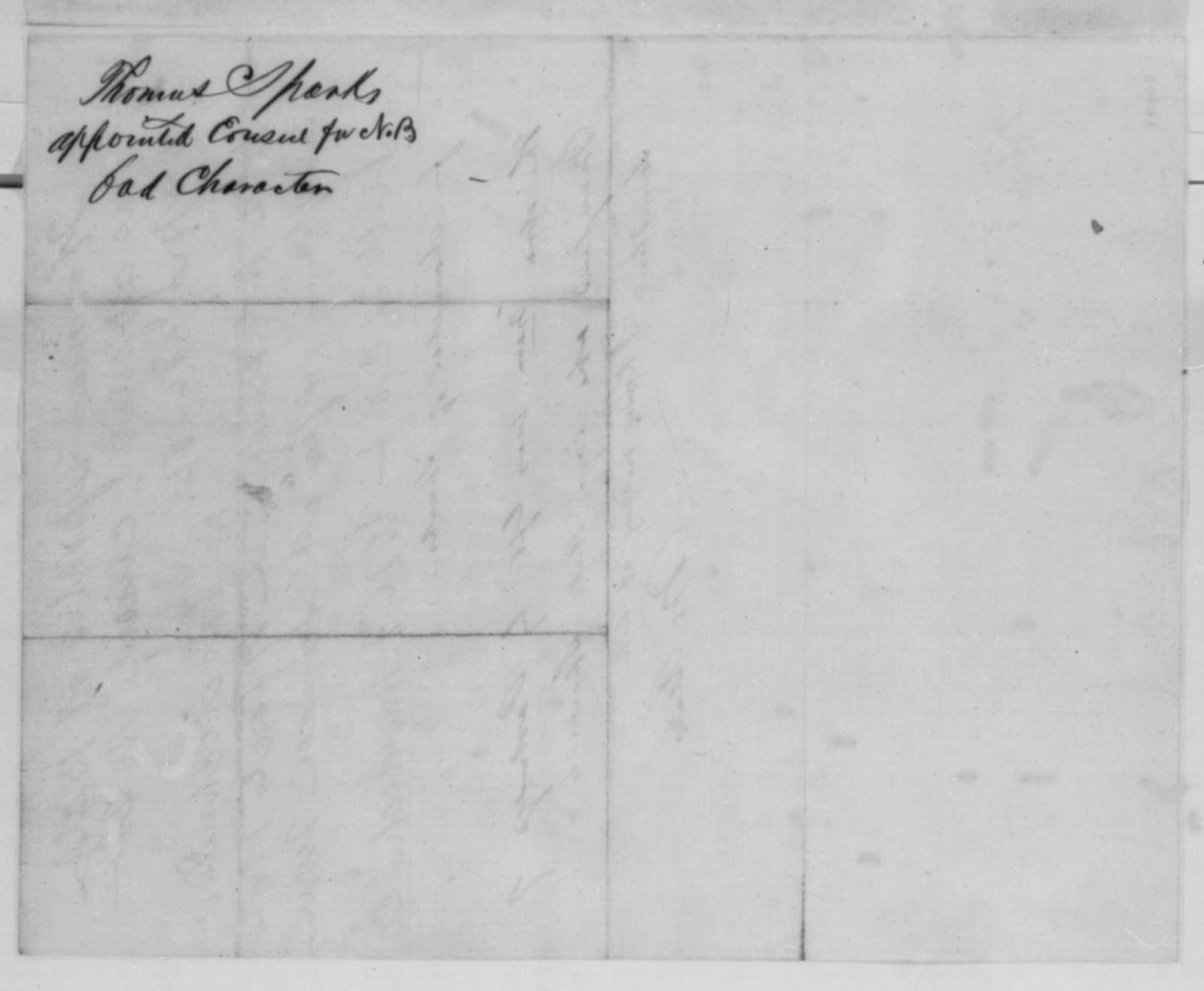 Montgomery Blair to Abraham Lincoln,  1862  (Appointment of Thomas Sparks)
