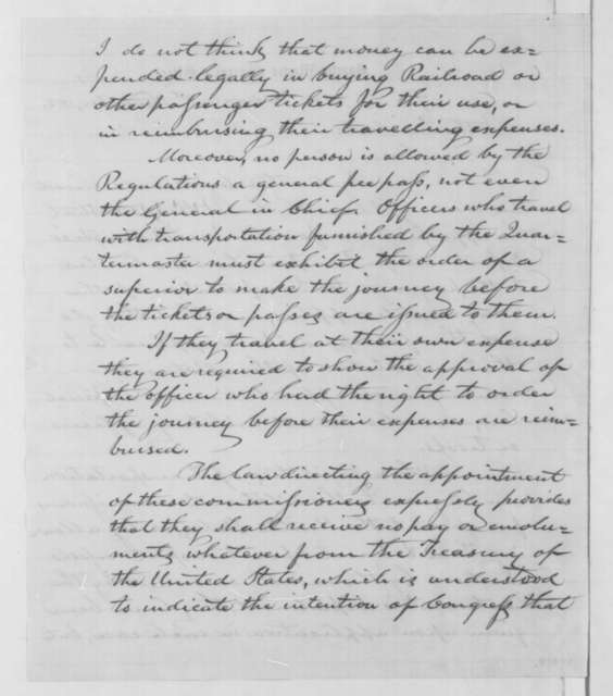 Montgomery C. Meigs to Abraham Lincoln, Monday, November 03, 1862  (Appropriations for military transportation)