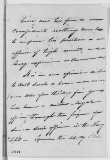Moses H. Grinnell to Abraham Lincoln, Thursday, March 20, 1862  (Commodore Stringham)