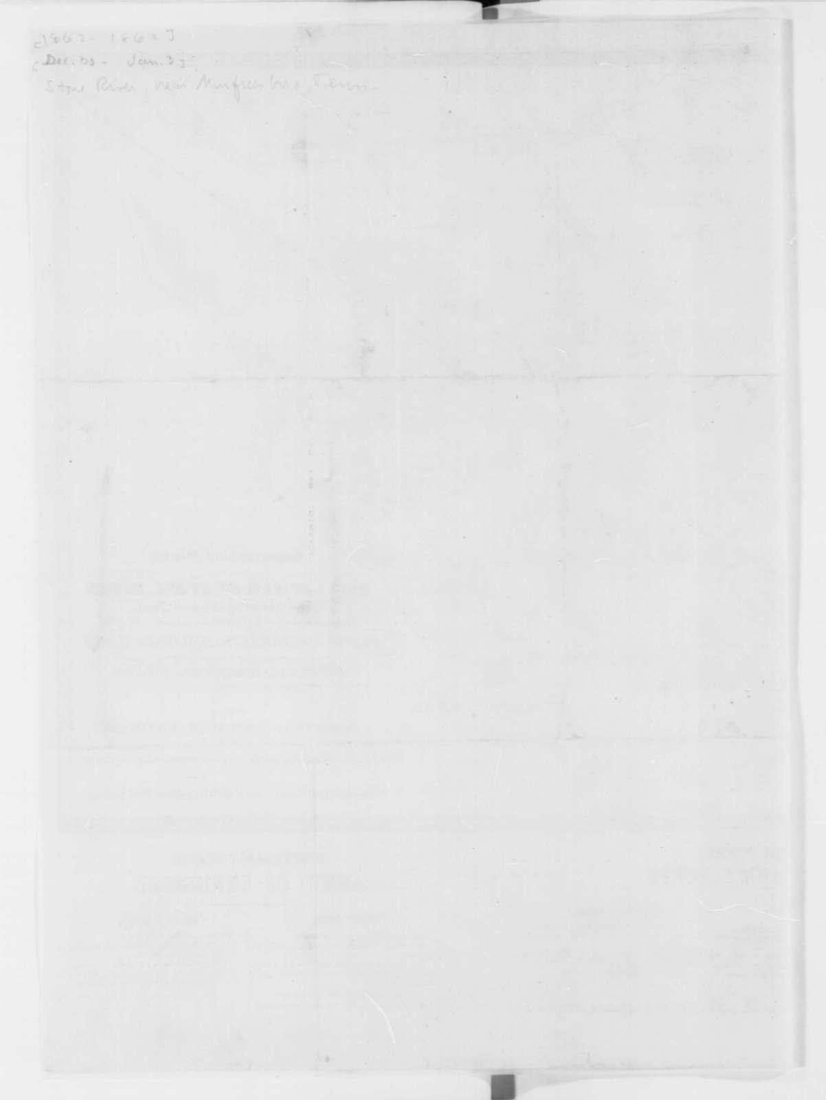 Murfreesboro Tennessee, 1862-63  (Map)