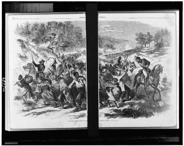 Negroes driven south by the Rebel officers