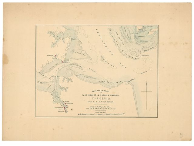 Neighborhood of Fort Monroe & Norfolk Harbour Virginia : from the U.S. Coast Survey /