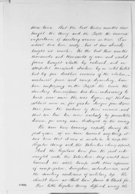 New York City Sanitary Commission to Abraham Lincoln, Monday, July 21, 1862  (Request that recruits receive a more thorough medical exam)