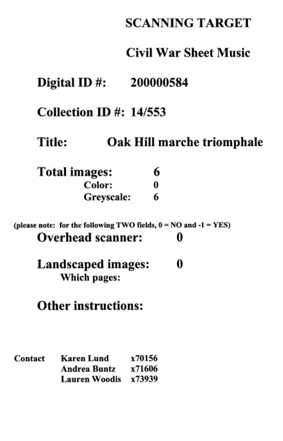Oak Hill marche triomphale