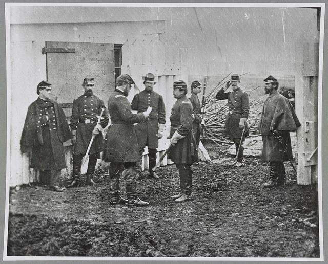 Officers, 1st Conn. Heavy Artillery (hdq), Ft. Richardson, Arlington, Va.