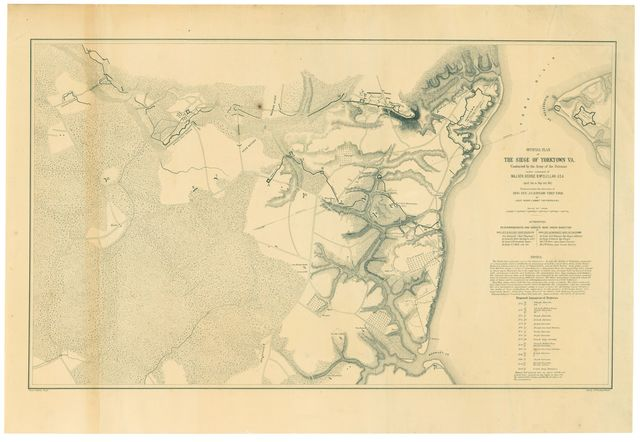 Official plan of the siege of Yorktown, Va. : conducted by the Army of the Potomac under command of Maj. Gen. George B. McClellan U.S.A., April 5th to May 3rd 1862 /