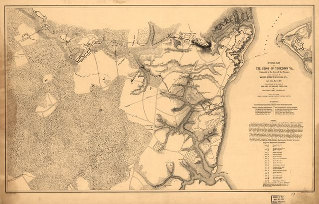 Official plan of the siege of Yorktown, Va., conducted by the Army of the Potomac under command of Maj. Gen. George B. McClellan, U.S.A., April 5th to May 3rd 1862