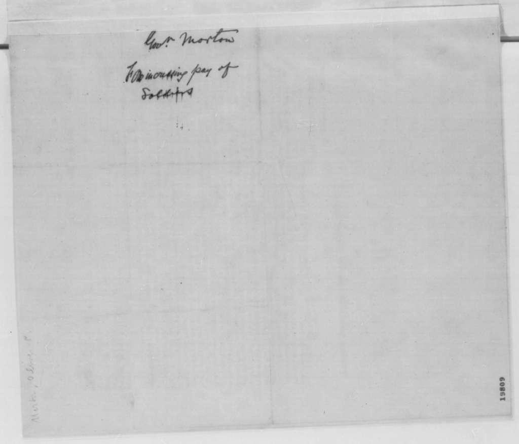 Oliver P. Morton to Congress, Saturday, November 29, 1862  (Printed Report)