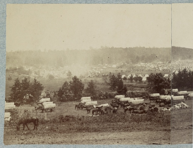 Panoramic views of encampment of Army of Potomac at Cumberland Landing on Pamunkey River, Va., May 1862