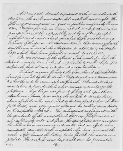 Patrick H. O'Rorke to Egbert L. Viele, Friday, February 28, 1862  (Military affairs)