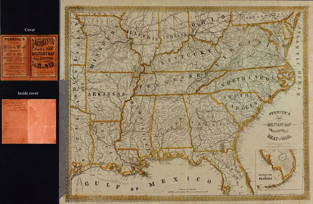 Perrine's New military map illustrating the seat of war : [southern U.S.].