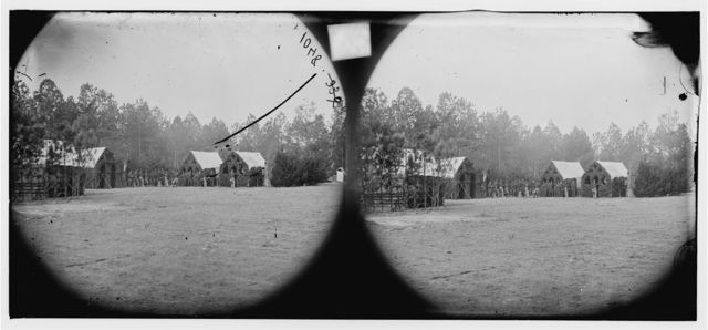 Petersburg, Virginia (vicinity). Field and staff officer's quarters. Camp of 50th New York Engineers
