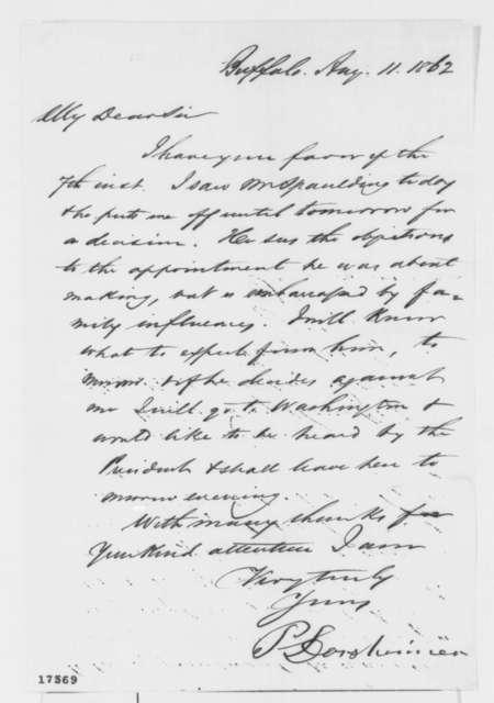 Philip Dorsheimer to Francis P. Blair Sr., Monday, August 11, 1862  (Politics)