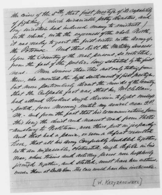 Philip Kearny to Oliver S. Halsted, Thursday, May 15, 1862  (Complains about General McClellan)