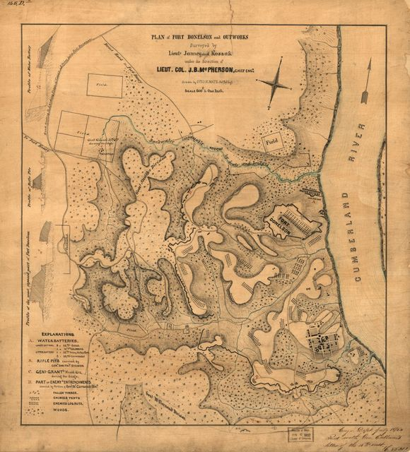Plan of Fort Donelson and outworks : [Tennessee] /