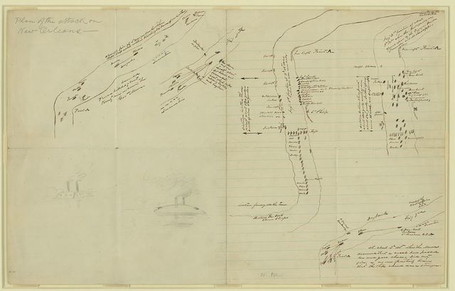 Plan of the attack on New Orleans