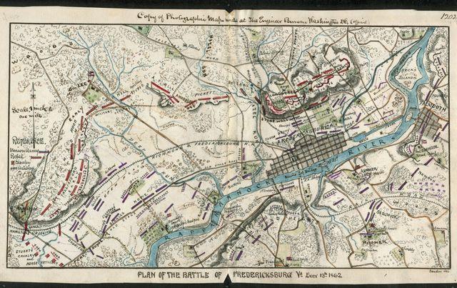 Plan of the Battle of Fredericksburg, Va., Decr. 13, 1862.