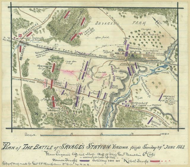 Plan of the battle of Savage's Station, Virginia, fought Sunday, 29th June 1862 /