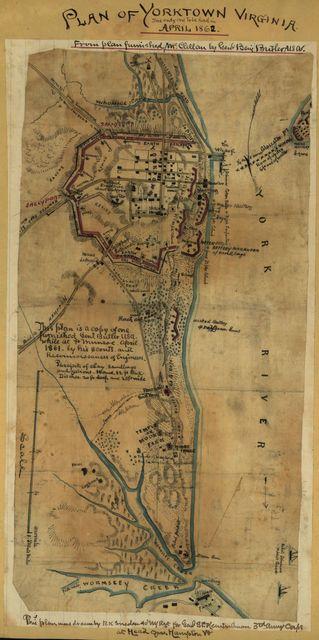 Plan of Yorktown, Virginia ... April, 1862.