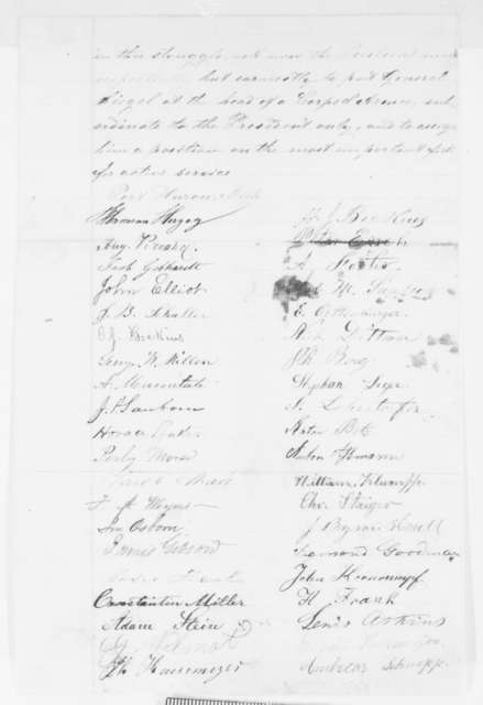 Port Huron Michigan Citizens to Abraham Lincoln, Friday, May 02, 1862  (Petition recommending Franz Sigel)