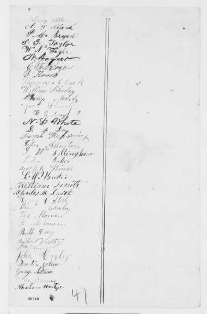 Portage County Ohio Citizens to Abraham Lincoln,  1862  (Petition recommending emancipation)
