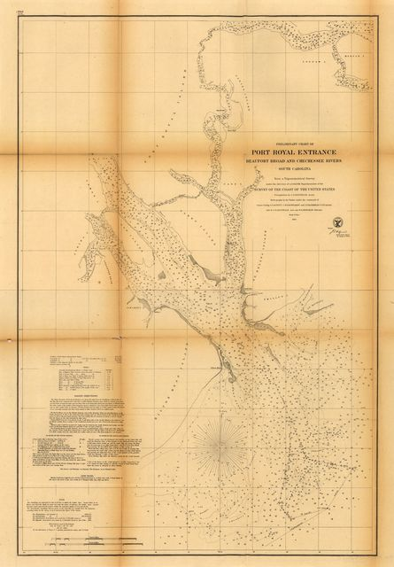 Preliminary chart of Port Royal entrance, Beaufort, Broad and Chechessee Rivers, South Carolina