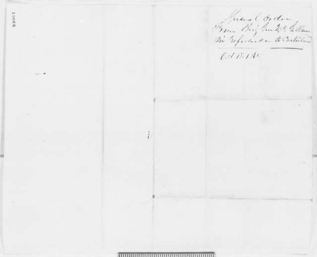 Quincy A. Gillmore to William L. Utley, Saturday, October 18, 1862  (Orders contrabands to be sent to him)