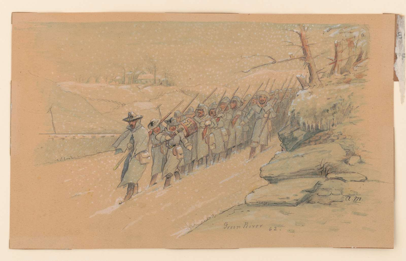 Return from picket duty, Green River, Kentucky, February 1862 A.M