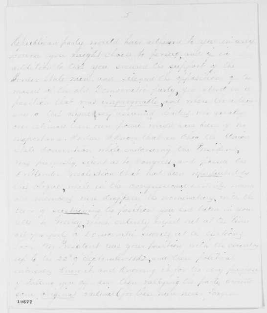 Richard P. L. Baber to Abraham Lincoln, Saturday, November 22, 1862  (Political affairs)