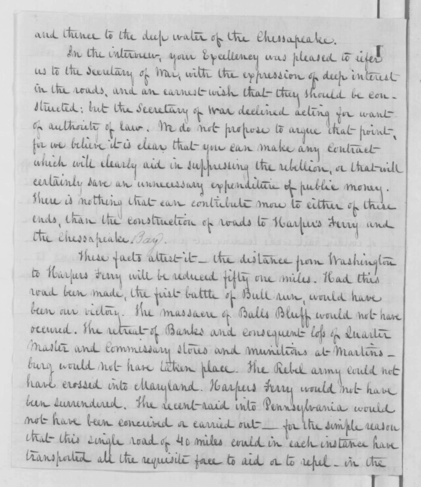 Richard Wallach, et al. to Abraham Lincoln, Tuesday, October 28, 1862  (Petition concerning railroads in Washington D.C.)