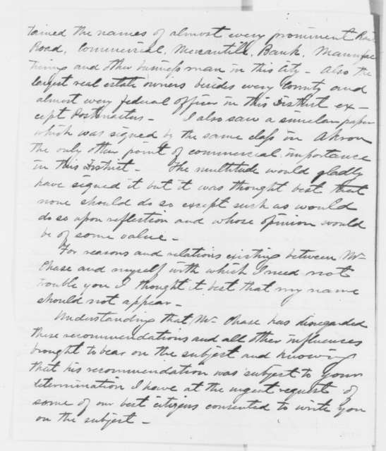 Robert F. Paine to Abraham Lincoln, Wednesday, August 20, 1862  (Recommendation)