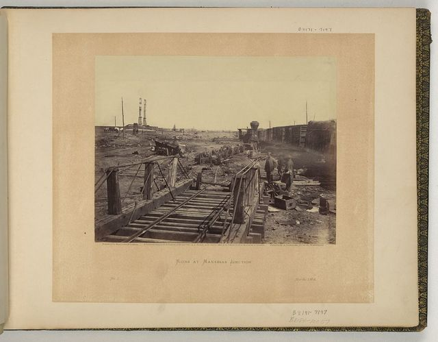 Ruins at Manassas Junction / negative by Barnard & Gibson ; positive by A Gardner.