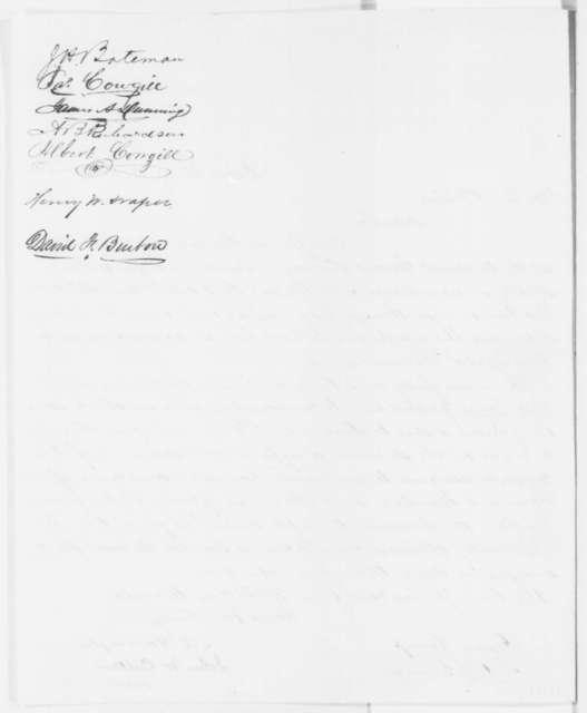 S. Harrington, et al. to George Fisher, Thursday, May 15, 1862  (Petition on behalf of Gen. Lockwood)