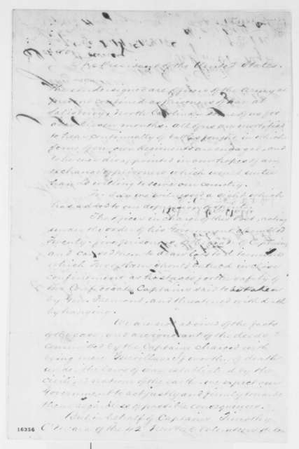 Salisbury North Carolina US Army Prisoners to Abraham Lincoln, Friday, June 06, 1862  (Petition)
