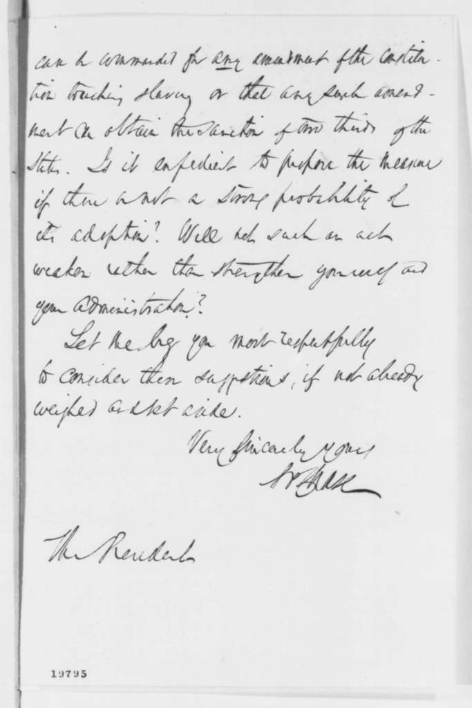 Salmon P. Chase to Abraham Lincoln, Friday, November 28, 1862  (Emancipation Proclamation and Annual Message)