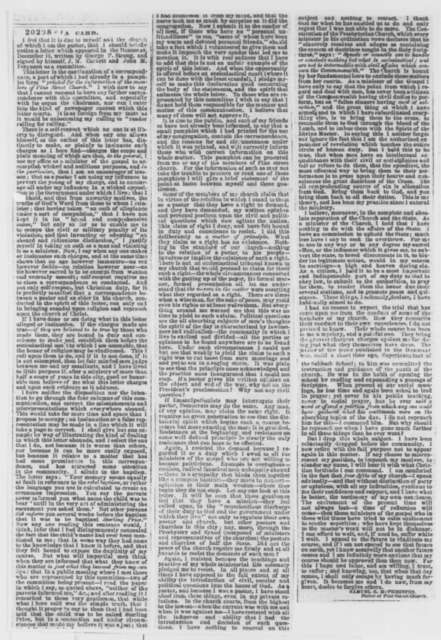 Samuel B. McPheeters, Friday, December 19, 1862  (Clipping)